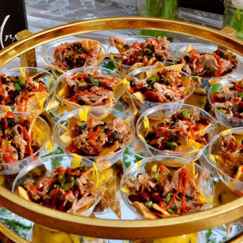 The smokin burrito pulled pork nachos appetizer